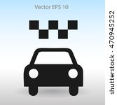 flat taxi icon. | Shutterstock .eps vector #470945252