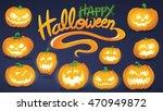 halloween vector card or... | Shutterstock .eps vector #470949872