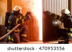 firefighters ready to enter a... | Shutterstock . vector #470953556