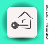 pictograph of key | Shutterstock .eps vector #470954906