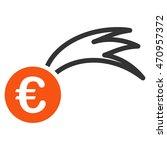 euro falling meteor icon. glyph ...   Shutterstock . vector #470957372