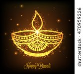beautiful golden oil lit lamp ...   Shutterstock .eps vector #470959226