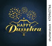 creative text happy dussehra... | Shutterstock .eps vector #470965766