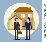business people shaking hands.... | Shutterstock . vector #470970362