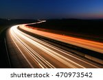car driving down a winding... | Shutterstock . vector #470973542
