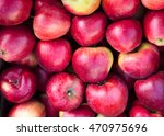Fresh Red Apples On A Market...