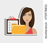 woman clipboard folder file... | Shutterstock .eps vector #470978852