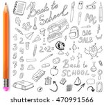 back to school vector set with... | Shutterstock .eps vector #470991566
