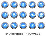 vector set of winter sport... | Shutterstock . vector #47099638