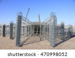 steel frame in the construction ... | Shutterstock . vector #470998052