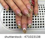 manicure   beauty treatment... | Shutterstock . vector #471023138