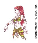 tribal dancer or belly dancer... | Shutterstock .eps vector #471023705