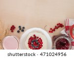 cottage cheese with berries and ... | Shutterstock . vector #471024956