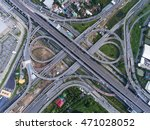 busy highway from aerial view. | Shutterstock . vector #471028052