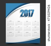 new year 2017 calendar | Shutterstock .eps vector #471029426
