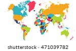 world map  europe  asia  north... | Shutterstock . vector #471039782