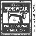 professional tailor label with... | Shutterstock .eps vector #471040766