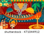 vector illustration of happy... | Shutterstock .eps vector #471044912