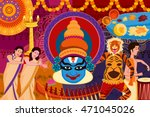 vector illustration of happy... | Shutterstock .eps vector #471045026