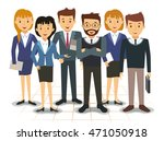 business team of employees... | Shutterstock .eps vector #471050918