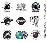 set of cosmic themed badges ... | Shutterstock .eps vector #471062282