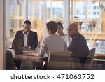 group of four dynamic business... | Shutterstock . vector #471063752