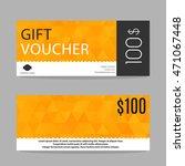 gift voucher template | Shutterstock .eps vector #471067448