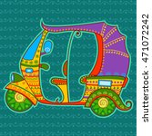 vector design of auto rickshaw... | Shutterstock .eps vector #471072242