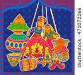 vector design of indian art... | Shutterstock .eps vector #471072266