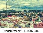 lviv  ukraine old city vintage...   Shutterstock . vector #471087686