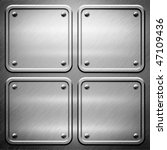 aluminum metal  template... | Shutterstock . vector #47109436