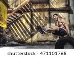 young man doing balance... | Shutterstock . vector #471101768