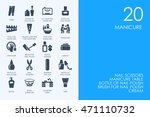 set of blue hamster library...   Shutterstock .eps vector #471110732