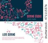 sewing studio doodle...   Shutterstock .eps vector #471115376