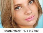 beauty face. closeup portrait... | Shutterstock . vector #471119402