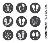 footprint icons set vector... | Shutterstock .eps vector #471122426