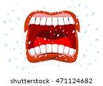 yells. man shouts. violent... | Shutterstock .eps vector #471124682