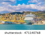 View Of A Cruise Ship Anchoring ...