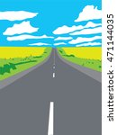 highway aiming for a horizon in ... | Shutterstock .eps vector #471144035