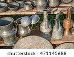 antique jugs and dishes   Shutterstock . vector #471145688