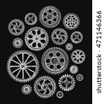 cogwheels and gears. vector... | Shutterstock .eps vector #471146366