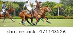 Small photo of WEST PALM BEACH, FLORIDA - March 26, 2016: Match between Goose Creek and Airstream at the International Polo Club of Palm Beach in Wellington, Florida. Sized for popular social media website banner