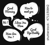 hand drawn speech bubble ...   Shutterstock .eps vector #471150842