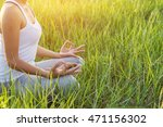 yoga in the city  beautiful... | Shutterstock . vector #471156302