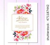 vintage delicate invitation... | Shutterstock . vector #471187442