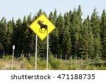 Moose Road Sign