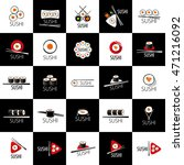 vector sushi logo   Shutterstock .eps vector #471216092