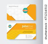 orange business contact card... | Shutterstock .eps vector #471216512