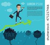 businessman or manager... | Shutterstock .eps vector #471217466