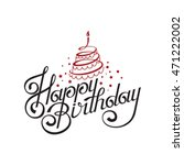 happy birthday card design with ... | Shutterstock .eps vector #471222002